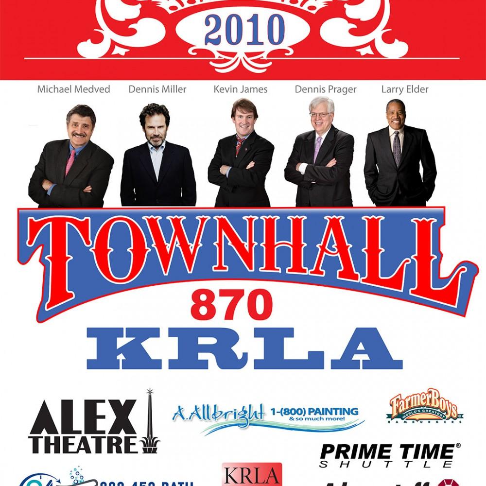 KRLA 870AM – Townhall 2010 Poster
